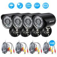 4*720P 1500TVL AHD Waterproof CCTV Camera + 4*60ft Surveillance Cable Night C7A7
