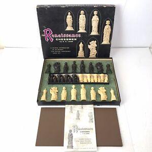 Vintage 1958 E.S. Lowe Renaissance Chessmen Set Complete