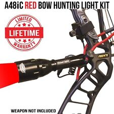 Wicked Lights A48IC Red Bow Hunting Light Kit for Coyotes, Hogs, Bow Fishing