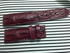 22/20mm GENUINE  ALLIGATOR CROCODILE LEATHER SKIN WATCH STRAP BAND#L01