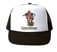 Captain Morgan Trucker Hat Mesh Cap Snapback Adjustable Brand New-Black