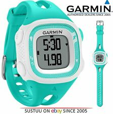 Garmin Forerunner FR15 GPS Vitesse & Distance Sports Running Watch Bleu Sarcelle/Blanc