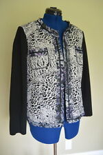 Chico's Jacket 2 L XL Mixed Animal Print Open Front L/S Black Chico NWT