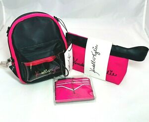 Kendall + Kylie 3 Piece Gift Set Crossbody Wallet & Cosmetic Bag Pink Christmas