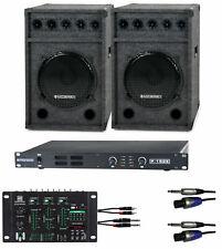 1200W DJ PA Anlage Lautsprecher Verstärker USB Mischpult Sound System Boxen Set