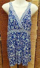 DEBENHAMS COLLECTION BNWT Ladies Blue Print Sleeveless Top Size 14 RRP £26