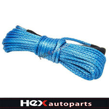 Blue 50 X 14 8200lbs Winch Rope Cable Dyneema Synthetic Atv Suv Recovery