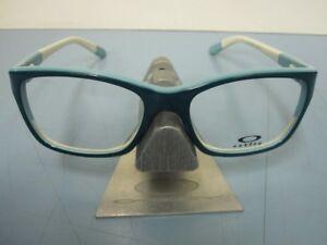 OAKLEY womens Blameless 50/50 RX eyeglass frame Teal OX1103-0452 New In Box