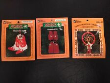 Lot Of 3 The Leather Factory Christmas Crafts