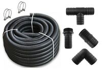"""2"""" FULL FLOW CORRUGATED 50MM POND PIPE, MATCHING CONNECTORS AVAILABLE"""