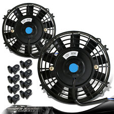 """2x Black 7"""" High Performance Electric Cooling Engine Bay Radiator Fan For MAZDA"""