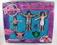 I FLINTSTONES flessibile Figure Set Regalo, FRED, WILMA & i ciottoli; MATTEL 1994