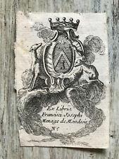 Ex-libris Francisci Josephi Menage de Mondesir