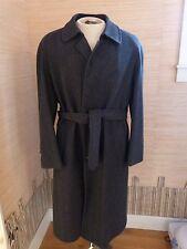 Hart Schaffner & Marx Herringbone Wool Belted Trench Overcoat sz 38 R EUC