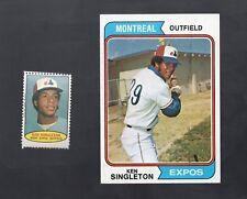 1974 TOPPS CARD & STAMP KEN SINGLETON #25 MONTREAL EXPOS