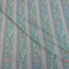 Stoff Meterware Baumwolle türkis Streifen Blumen Samode Provence aus Frankreich
