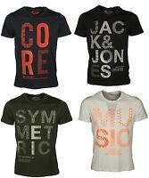 Brand New Jack & Jones Logo Printed Mens T Shirts Short Sleeve Casual Tee Shirts