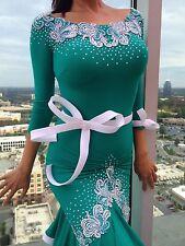 Latin Cha Cha Samba Salsa Rumba Professional Swarovski Competition Dance Dress