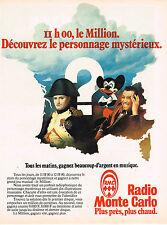 PUBLICITE ADVERTISING 045  1979  RMC radio   jeu LE MILLION  FERNANDEL