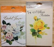 Lot of 2 Vintage Bridal Shower Invitation Hallmark Gibson Greeting Card Packs