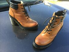 Dr Martens Persephone aunt sally brown leather boots UK 5 EU 38