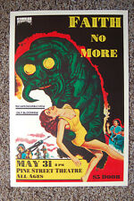 Faith No More Concert poster 1987 Portland Pine Street Theater