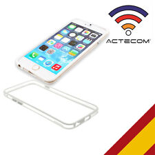 "ACTECOM® FUNDA BUMPER PARA IPHONE 7 / 4,7"" BLANCO-TRANSPARENTE CARCASA"