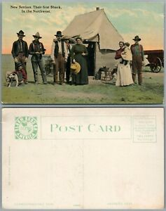NEW SETTLERS IN THE NORTHWEST ANTIQUE POSTCARD