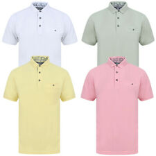 Kensington Eastside Mens Designer Birdseye Space Dye  Effect  Pique Polo Shirt