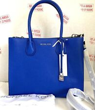 Michael Michael Kors Mercer Large Convertible Electric Blue Leather Tote Bag