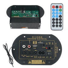 80W High Power 12V/24V/220V Bluetooth Car Subwoofer Hi-Fi Amplifier Board TF USB
