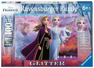 Ravensburger Puzzle 100pc XXL Glitter Disney Frozen 2 Strong Sisters 12868-6