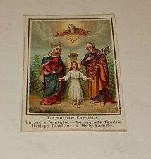 Vignette Image Pieuse Chromo : La Sainte Famille
