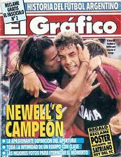 Soccer NEWELL'S OLD BOYS PRIMERA A CHAMPION 1990 - El Grafico magazine Argentina
