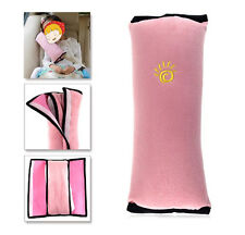 Auto Kids Children Safety Seat Belt Vehicle Shoulder Pillows Cushion Pad Pink