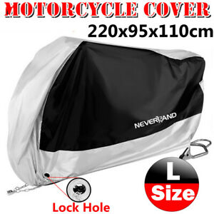 Large Waterproof Motorcycle Moped Bike Cover Outdoor Scooter Rain Dust Protector