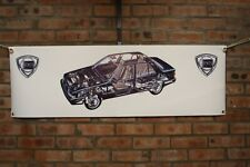 Lancia  Thema car large pvc  WORK SHOP BANNER garage  SHOW BANNER