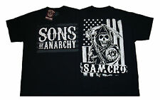SONS OF ANARCHY - SAMCRO Black White Americana - T SHIRT S-M-L-XL-2XL Brand New