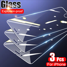 3x Full Tempered Glass Screen Protector For iPhone 12 Pro Max Mini 11 XS XR X 8