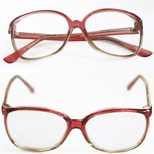 Reading Glasses Bifocal OFFICE Oval Large ROSE PINK Frame Polished +1.00 Lens