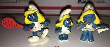 Vintage The Smurfs Smurfette Figure Lot of 3 Peyo Schleich