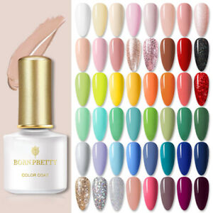 BORN PRETTY 6ml Soak Off UV Gel Nail Polish Pink Red Glitter Nail Gel Varnishes