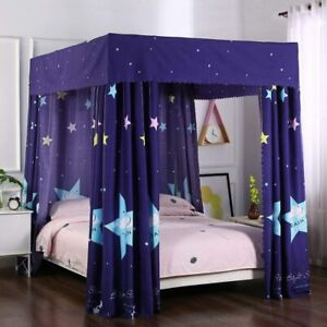 Mengersi Galaxy Star Four Corner Post Bed Curtain Canopy Bedroom Decoration for