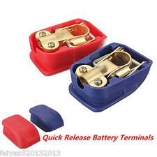 2pcs Quick Release Battery Clamps Terminals Leisure Marine Positive & Negative