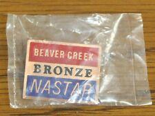 BEAVER CREEK - Ski Pin Badge Skiing - RED NASTAR BRONZE - Colorado Mountains MTN