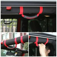 4X Roll Bar Grab Handles Grip Handle For Jeep Wrangler YJ TJ JK 1995-2018 (Red)