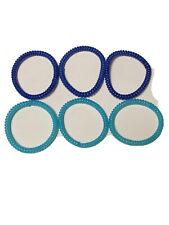 Light and Dark Blue Spiral Hair Ties Telephone Coil Hair Accessories- 6 PCS