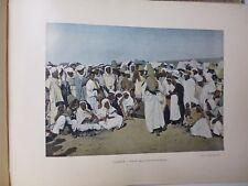 ALGERIE: Gravure 19° in folio couleur /SORCIER ARABE.DOMPTEUR DE SERPENTD