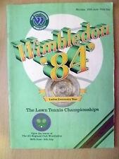 Tennis Memorabilia- 1984 The Lawn Tennis Championships Wimbledon, Official Progr