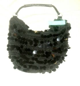 "New ""Studio 803""  Crocheted Beads Embroidered Clutch/Bag"